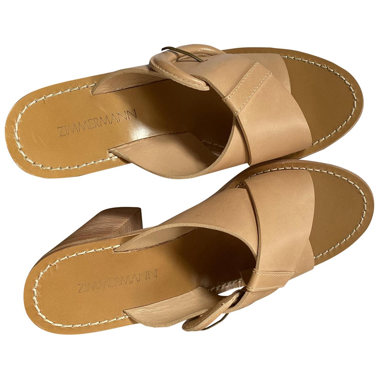 Sandalias de Cuero Zimmermann
