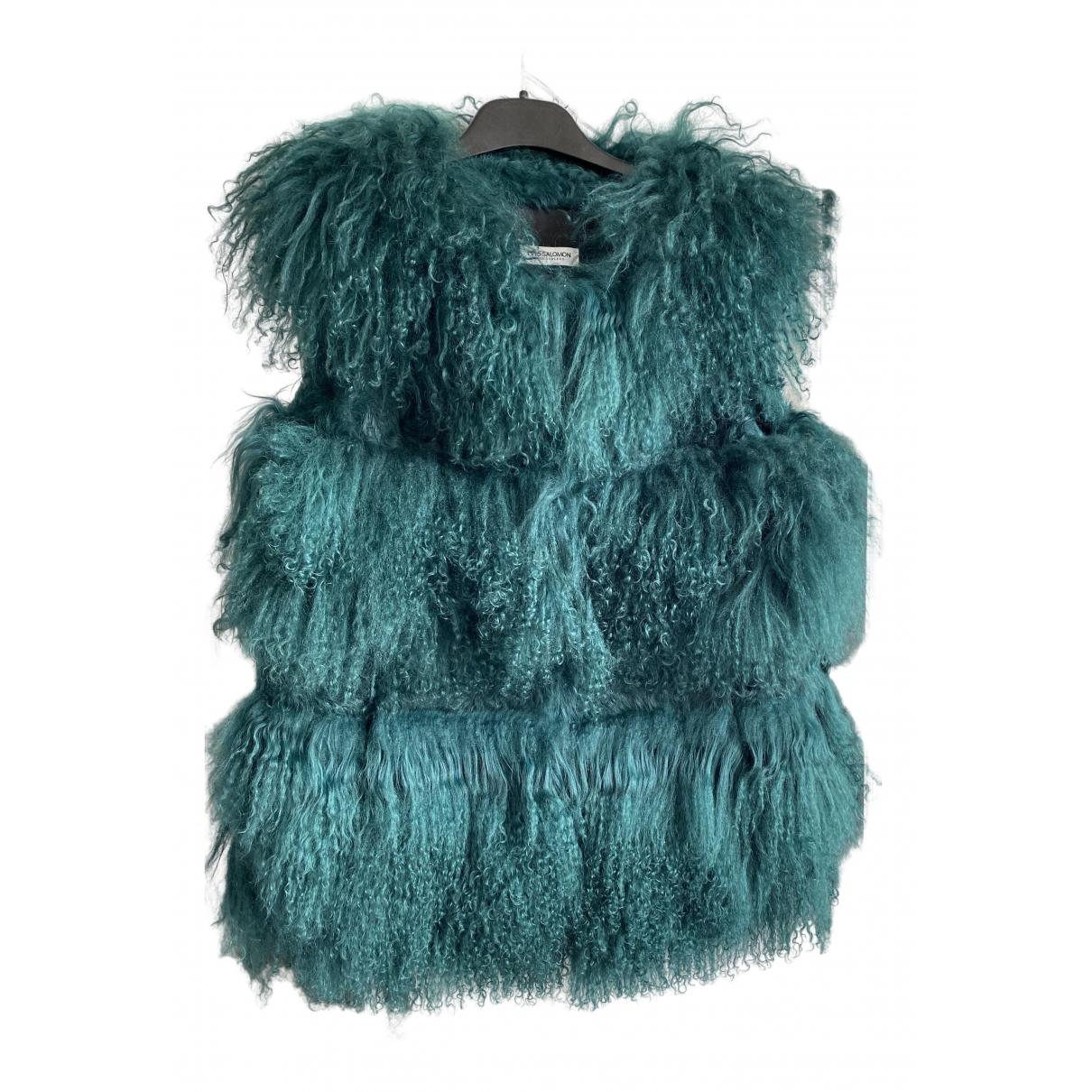 Yves Salomon \N Green Mongolian Lamb Knitwear for Women 42 FR