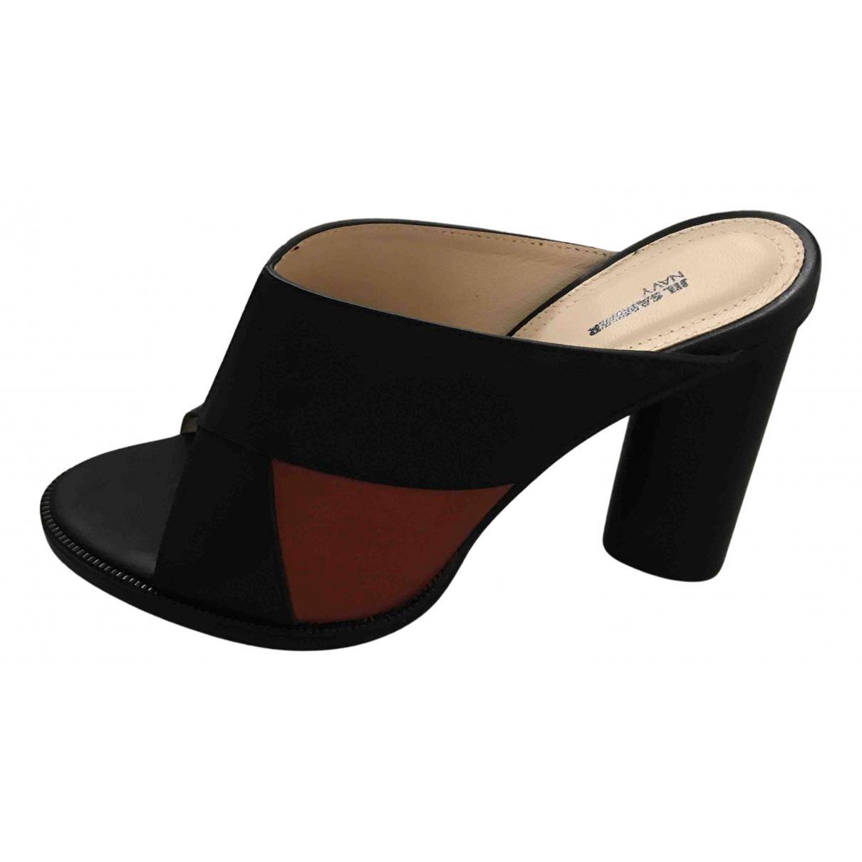 Jil Sander - Sandales   pour femme en cuir - noir