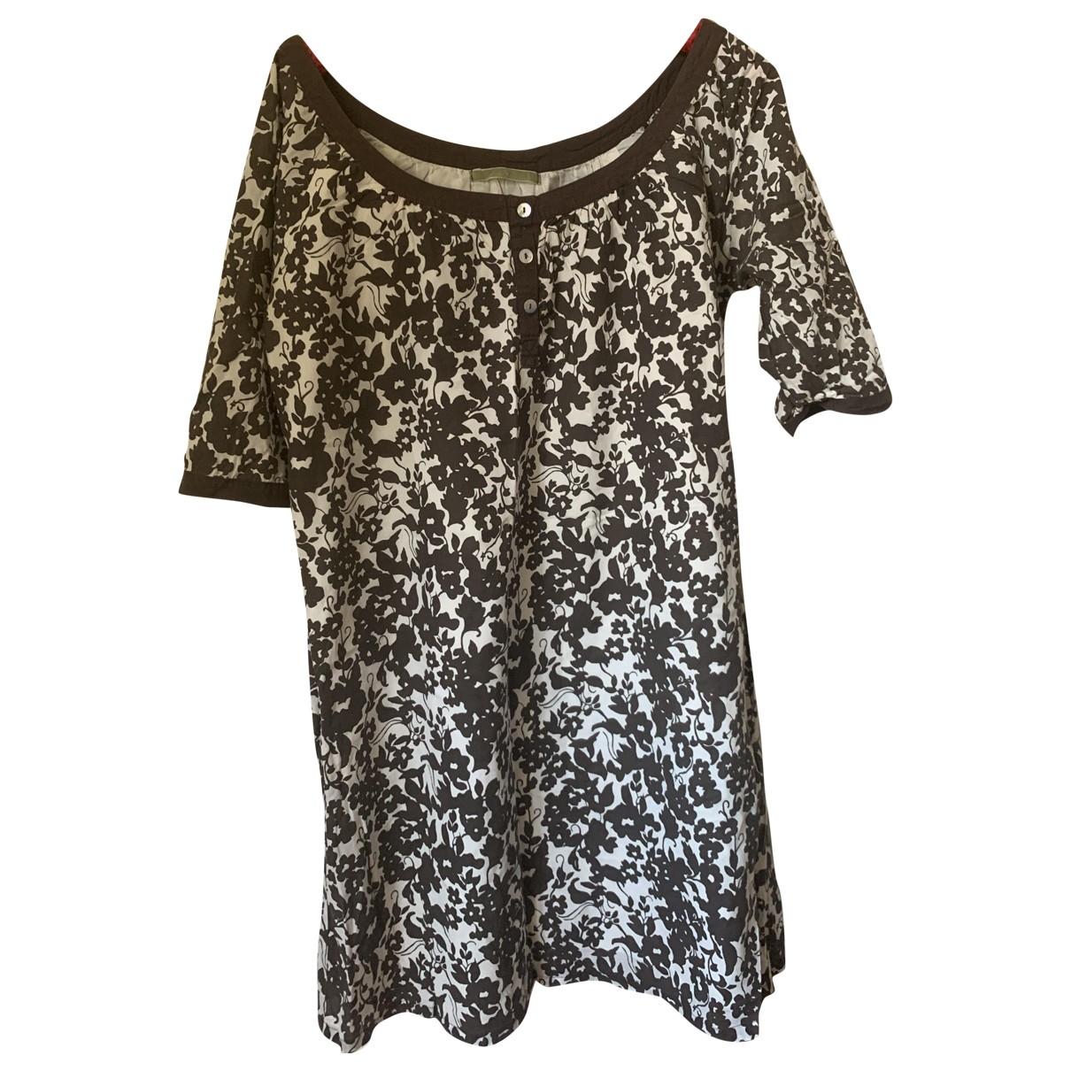 Velvet - Robe   pour femme en coton - blanc