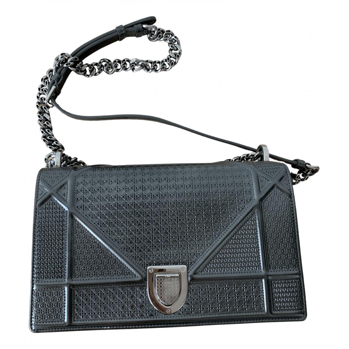 Dior Diorama Grey Leather handbag for Women N
