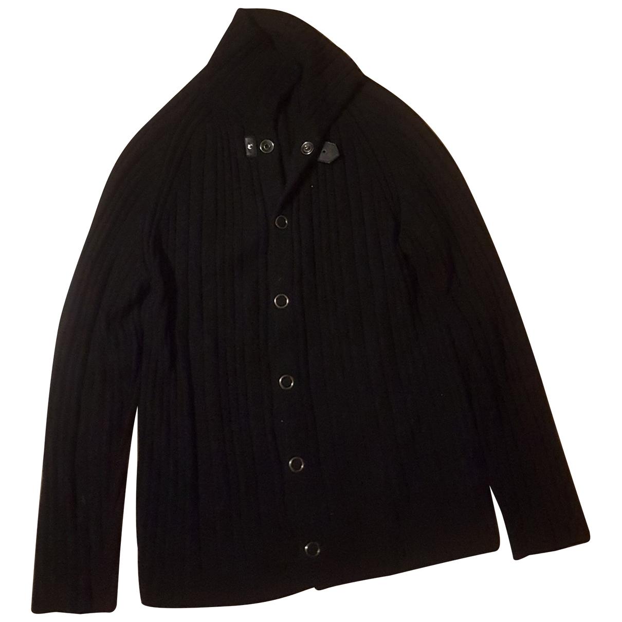 Armani Collezioni \N Pullover.Westen.Sweatshirts  in  Schwarz Wolle