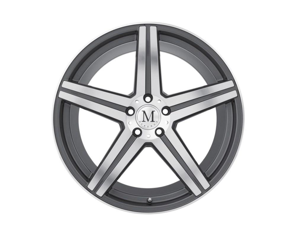 Mandrus Estrella Wheel 20x10 5x112 40mm Gunmetal w/ Mirror Cut Face & Lip Edge