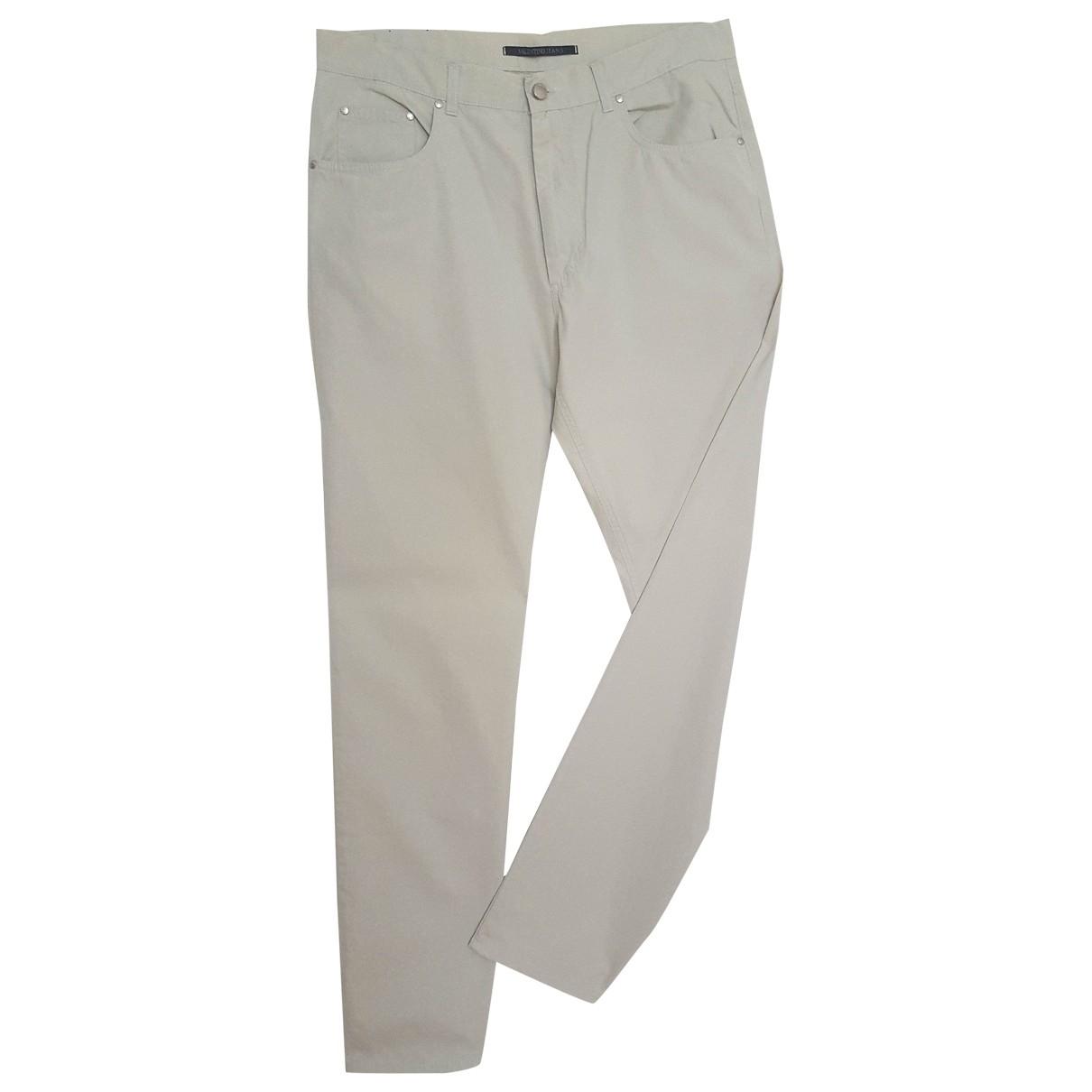 Valentino Garavani \N Beige Cotton Jeans for Men 36 US