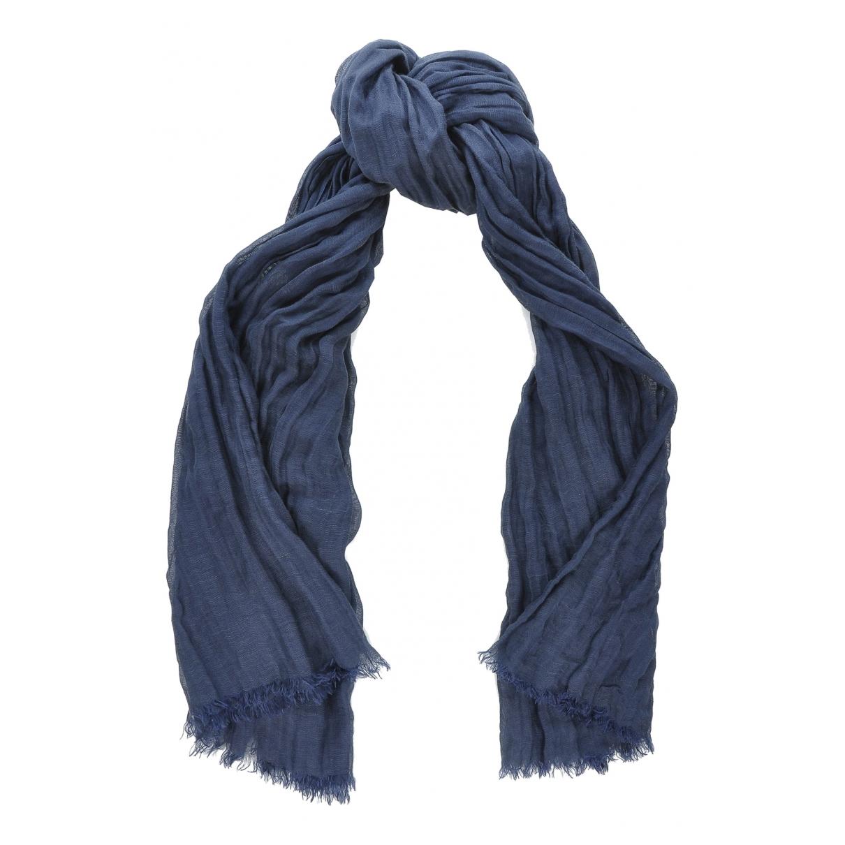 Max Mara 's \N Navy Linen scarf for Women \N