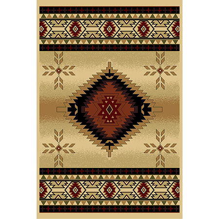 La Rugs Cosmos Diamond Rugs, One Size , Red