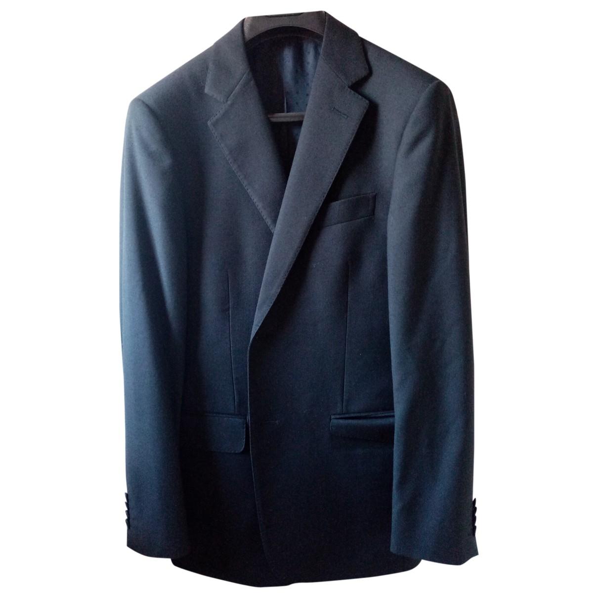 - Costumes   pour homme en laine - bleu