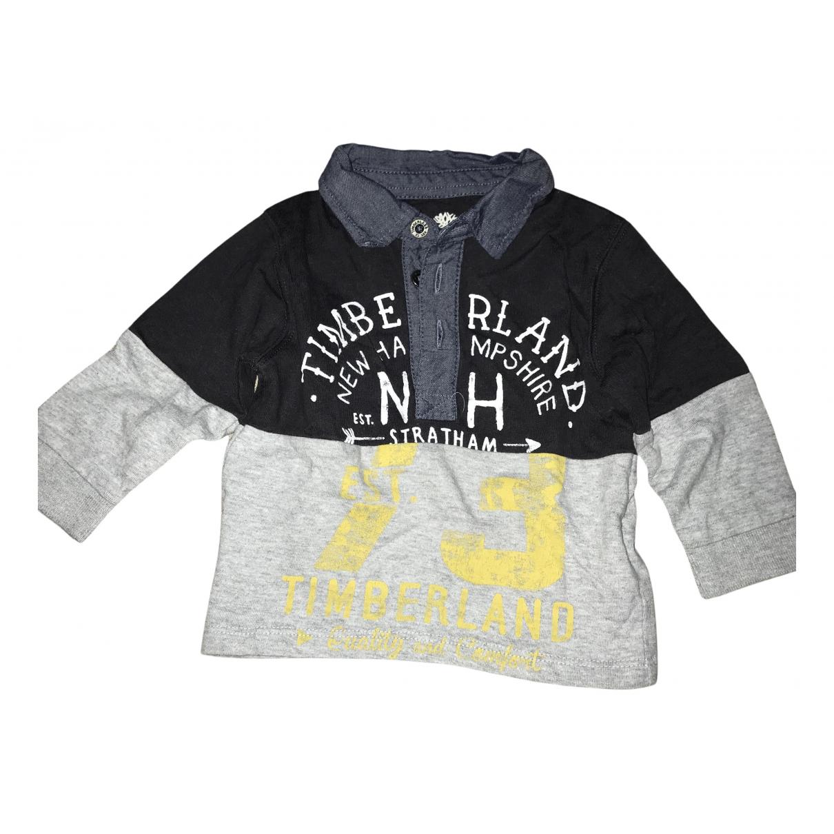 Timberland - Top   pour enfant en coton - gris