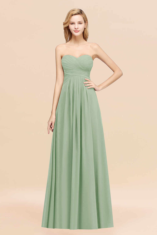 BMbridal Vintage Sweetheart Long Grape Affordable Bridesmaid Dresses Online