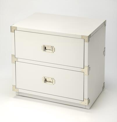 Anew Collection 5257288 2 Drawer Campaign Chest with Transitional Style  Rectangular Shape  Medium Density Fiberboard (MDF) and Rubberwood Solids in
