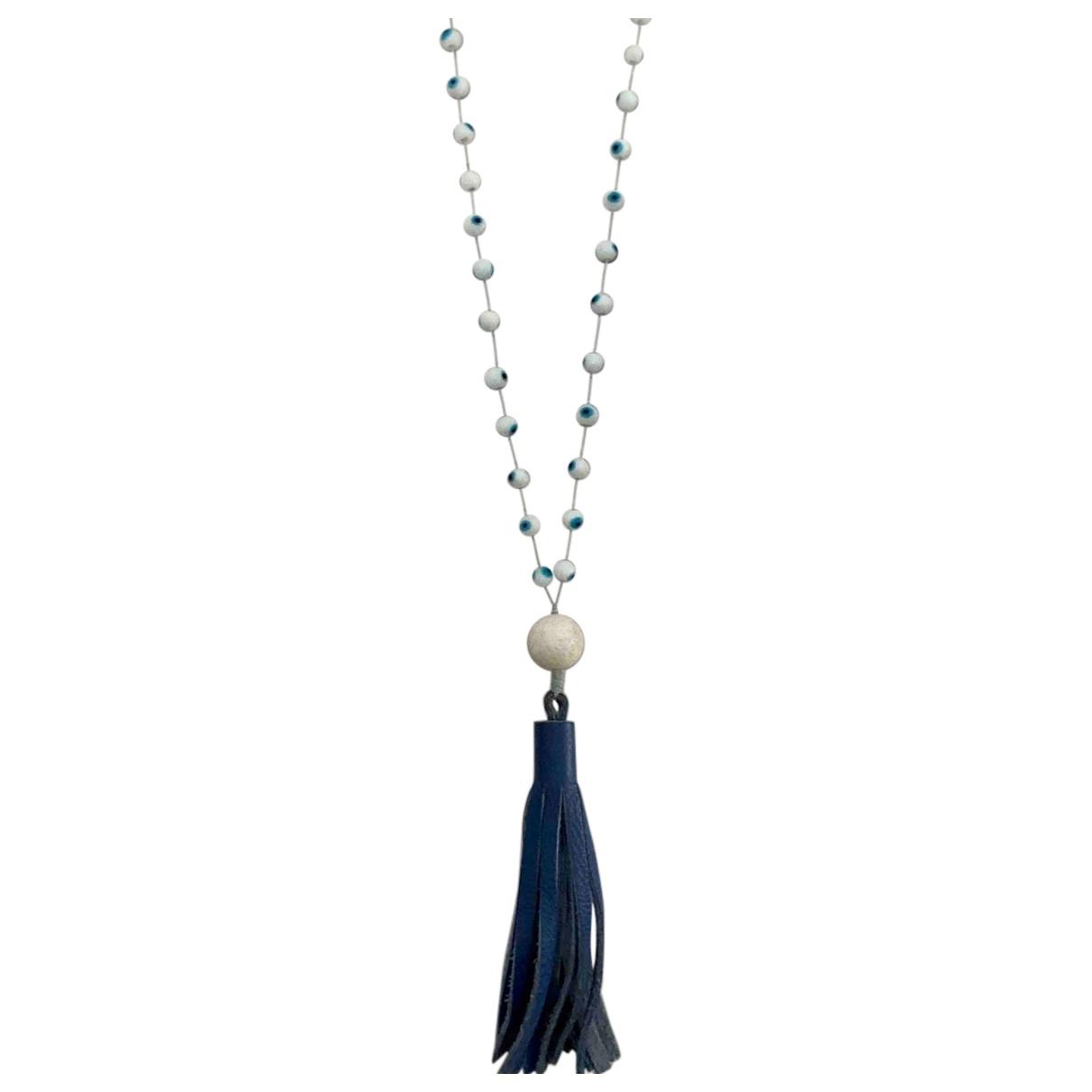 Non Signé / Unsigned Motifs Ethniques White Ceramic Long necklace for Women \N