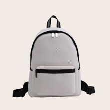 Perforated Pocket Front Backpack