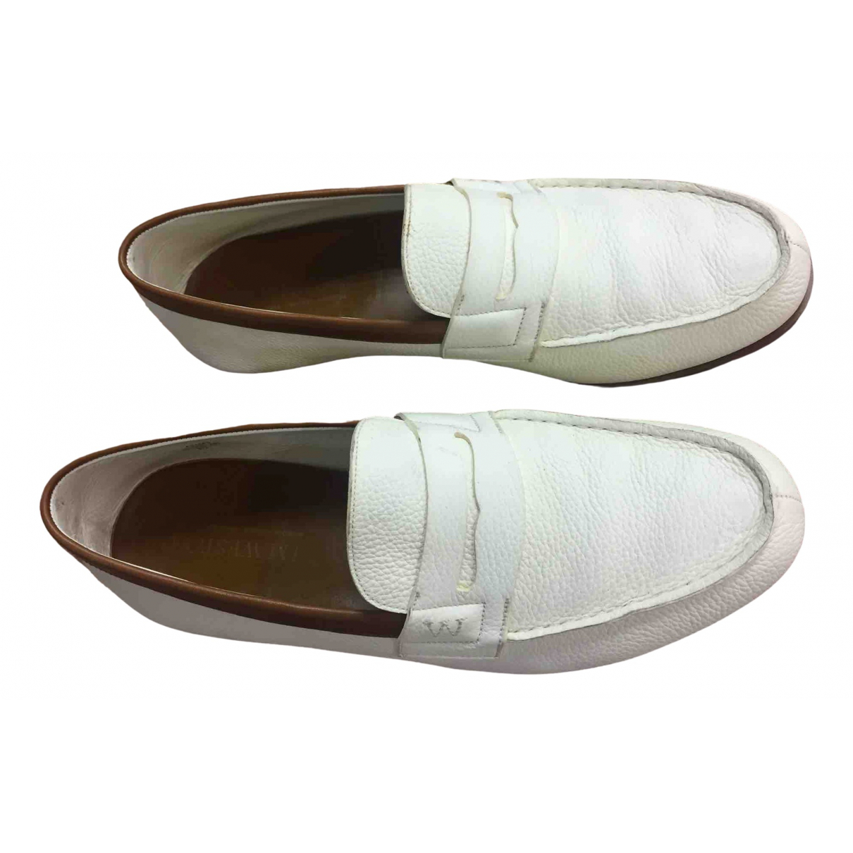 Jm Weston \N Beige Leather Flats for Men 43 EU