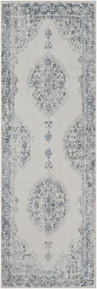 Contempo CPO-3735 311 x 57 Rectangle Traditional Rug in Navy  Camel