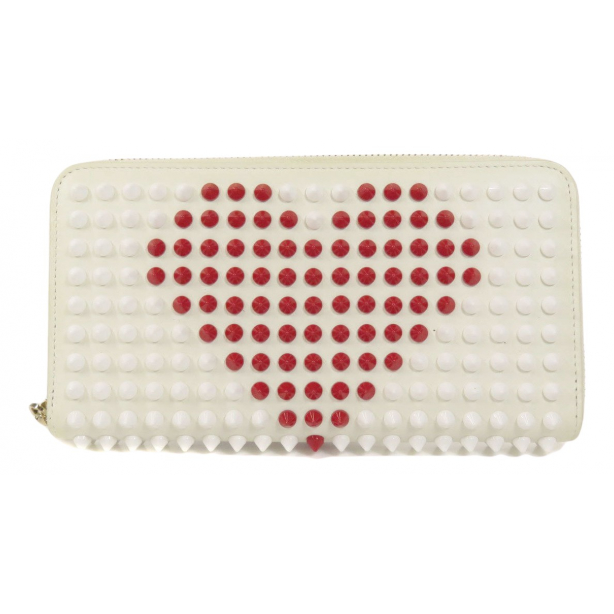 Christian Louboutin Panettone Portemonnaie in  Weiss Leder