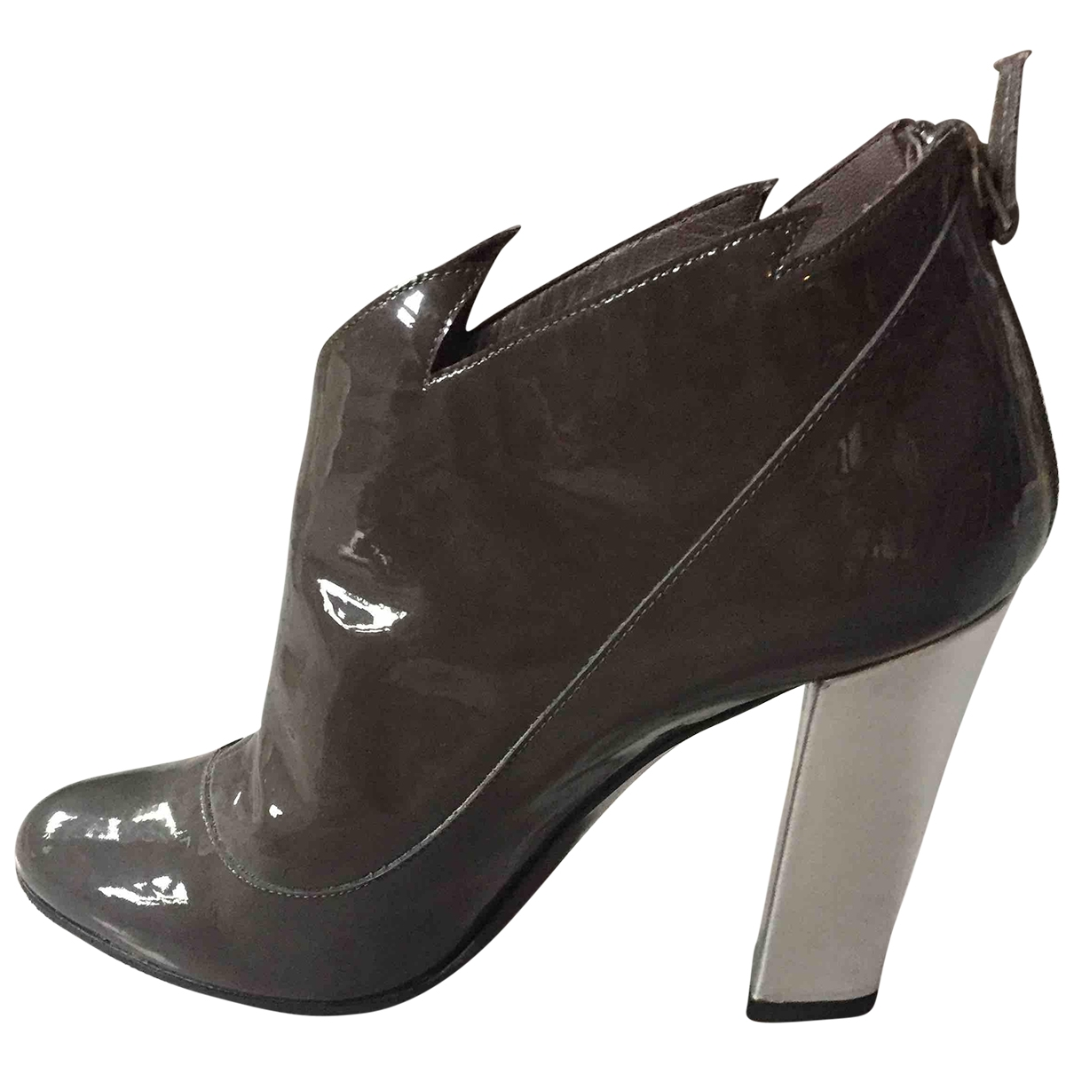 Laurence Dacade \N Grey Patent leather Ankle boots for Women 39 EU