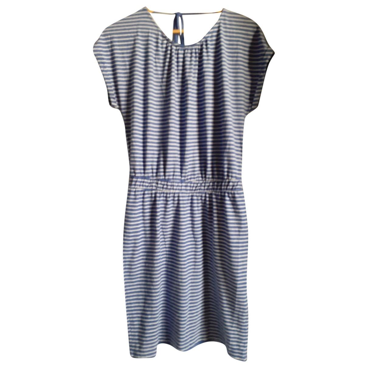 Ichi \N Kleid in  Blau Baumwolle