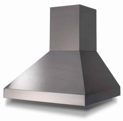 PY066ML 66 Pyramid Style Range Hood with Stainless Steel Baffle Filters  LED Lighting and Push Button Controls in Stainless