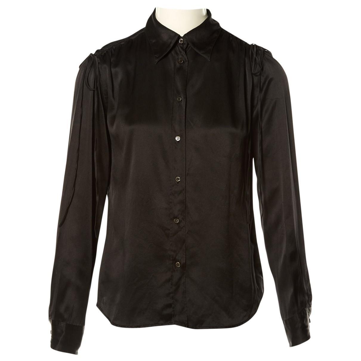 Prada - Top   pour femme en soie - noir