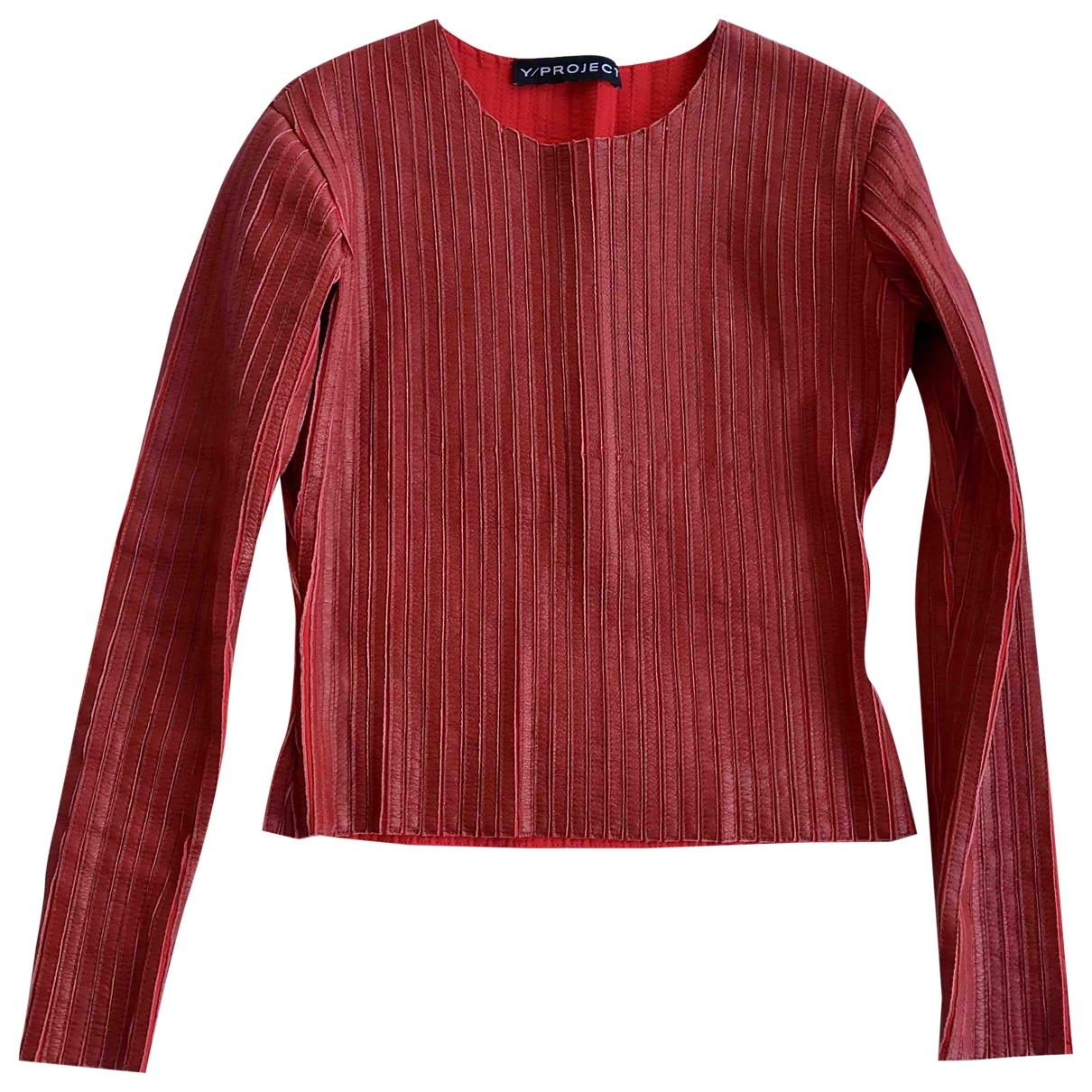 Y/project \N Red Leather  top for Women S International