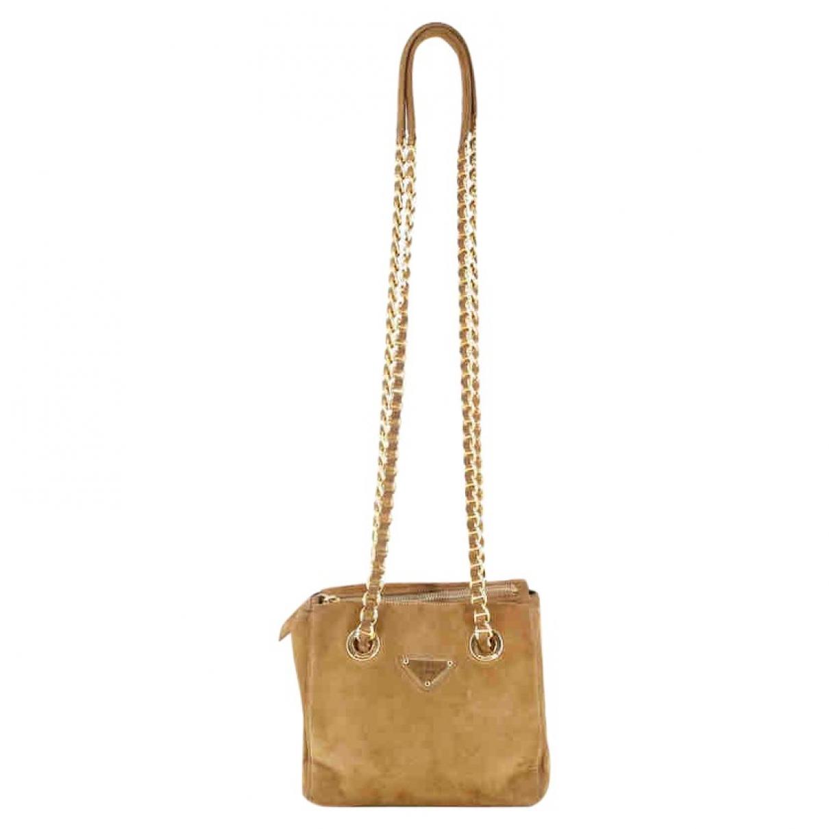 Prada \N Beige Suede handbag for Women \N