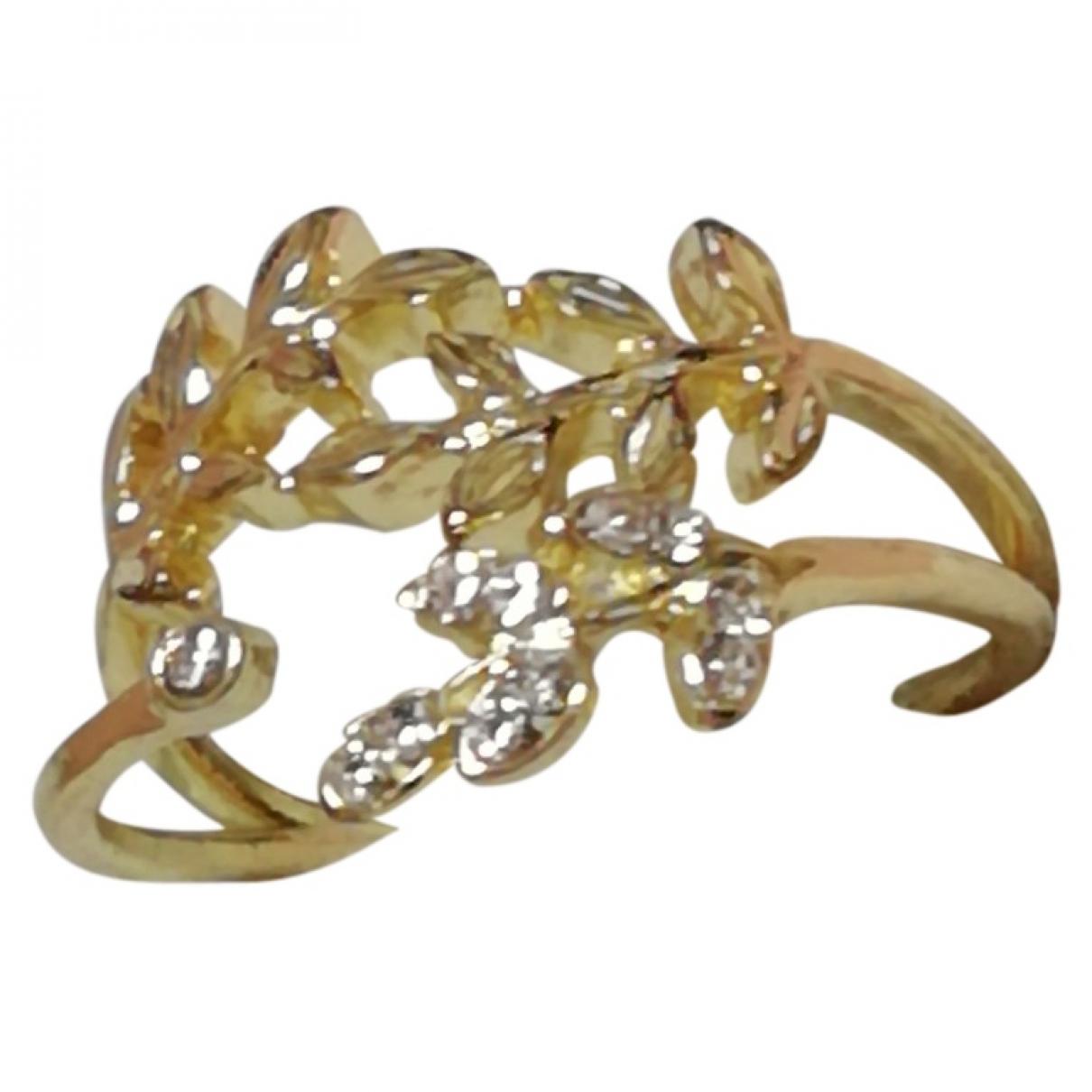 Non Signe / Unsigned Motifs Floraux Schmuck-set in  Gold Metall