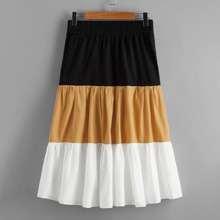 Cut And Sew A-line Skirt