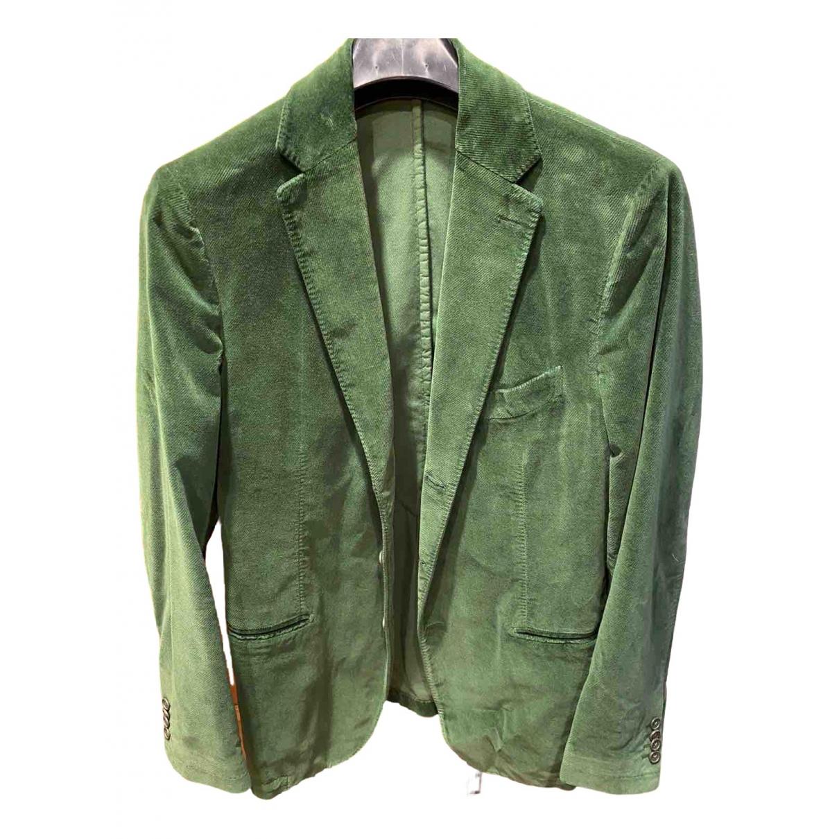 Piombo - Vestes.Blousons   pour homme en velours - vert