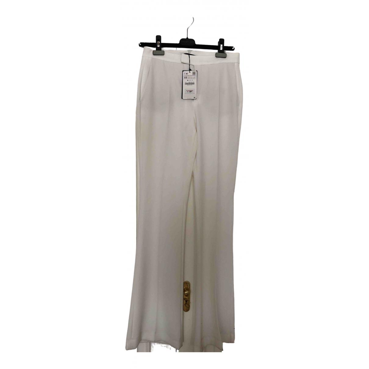 Zara \N White Trousers for Women XS International