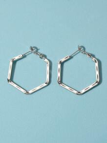 Geometric Design Hoop Earrings
