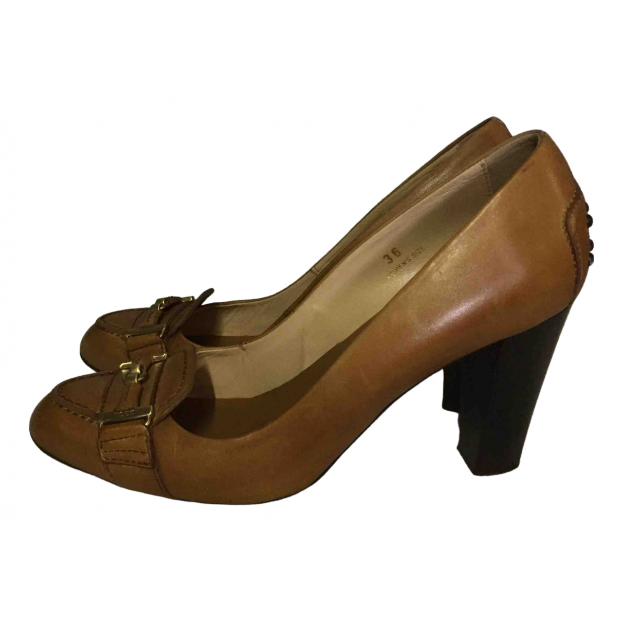 Tod's \N Camel Leather Heels for Women 36 EU