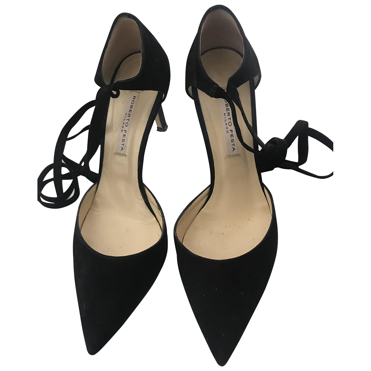 Roberto Festa \N Pumps in  Schwarz Veloursleder