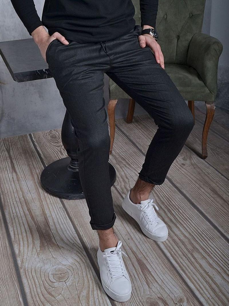 Ericdress Plain Pencil Pants Casual Mid Waist Pants