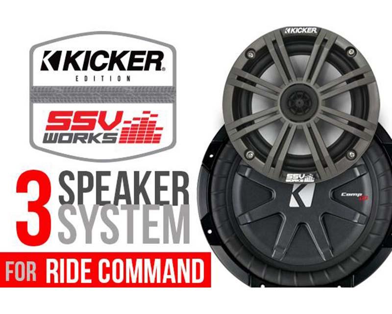 SSV Works RZ4-3KRC 3 Speaker Kicker Kit Plug And Play System 2/4 Seater Polaris RZR 900S 1000 1000S Turbo Turbo S 18-19
