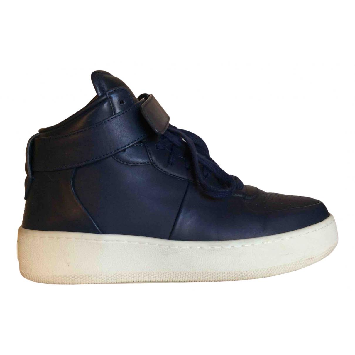 Celine \N Sneakers in  Blau Leder