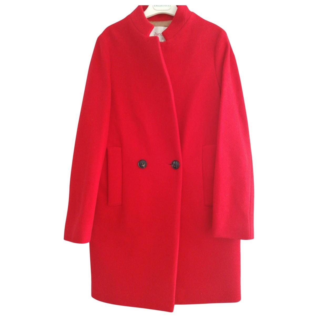 Jucca - Manteau   pour femme en laine - rouge