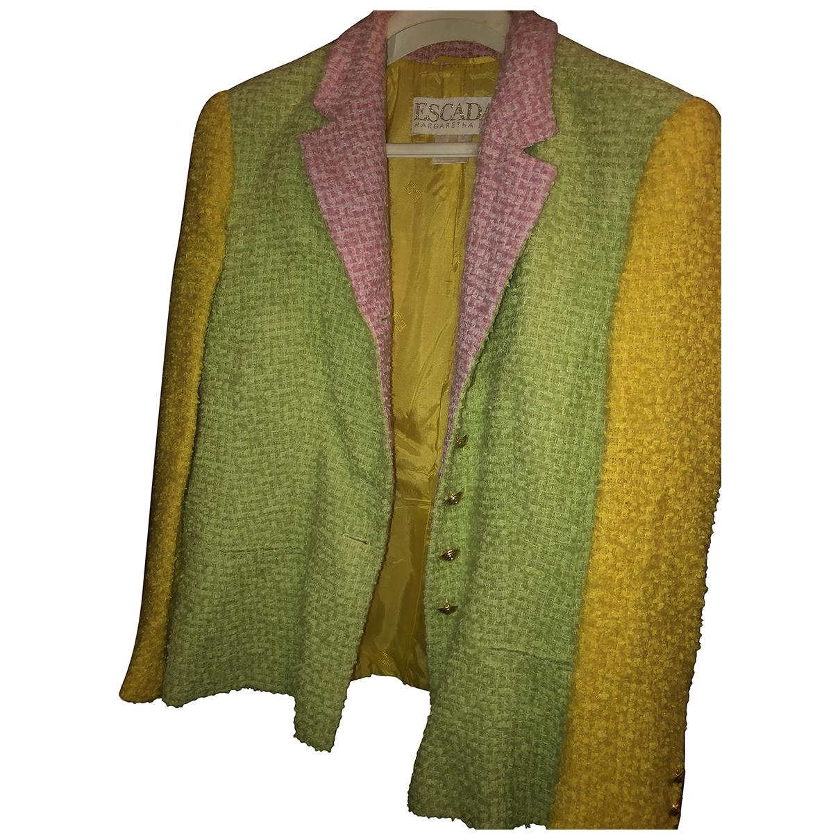 Escada - Veste   pour femme en tweed - multicolore