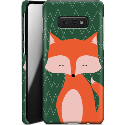 Samsung Galaxy S10e Smartphone Huelle - Fox on Green von caseable Designs