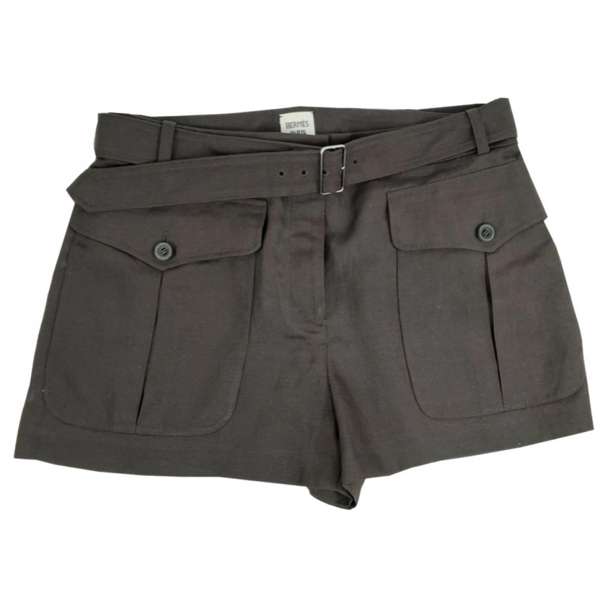 Hermès \N Brown Cotton Shorts for Women 40 FR