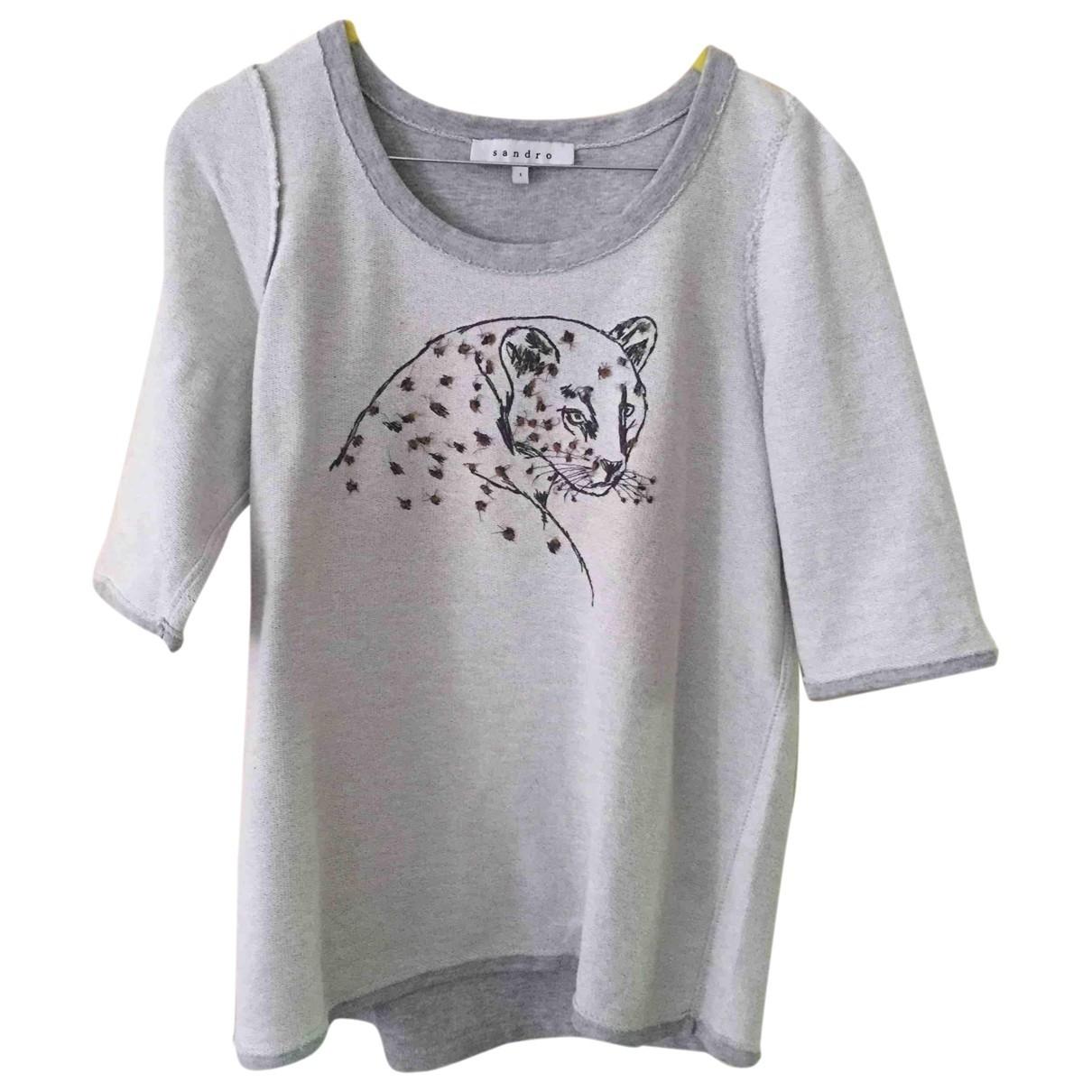 Sandro \N Grey Cotton Knitwear for Women 1 0-5
