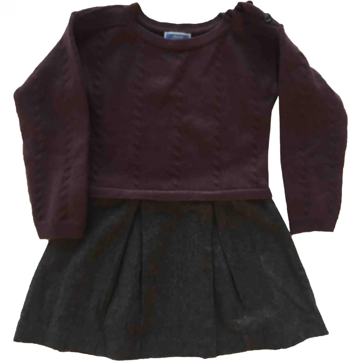 Jacadi - Robe    pour enfant en laine - marron