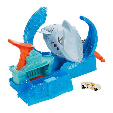 Hot Wheels City Robo Shark Frenzy Playset, One Size , No Color Family