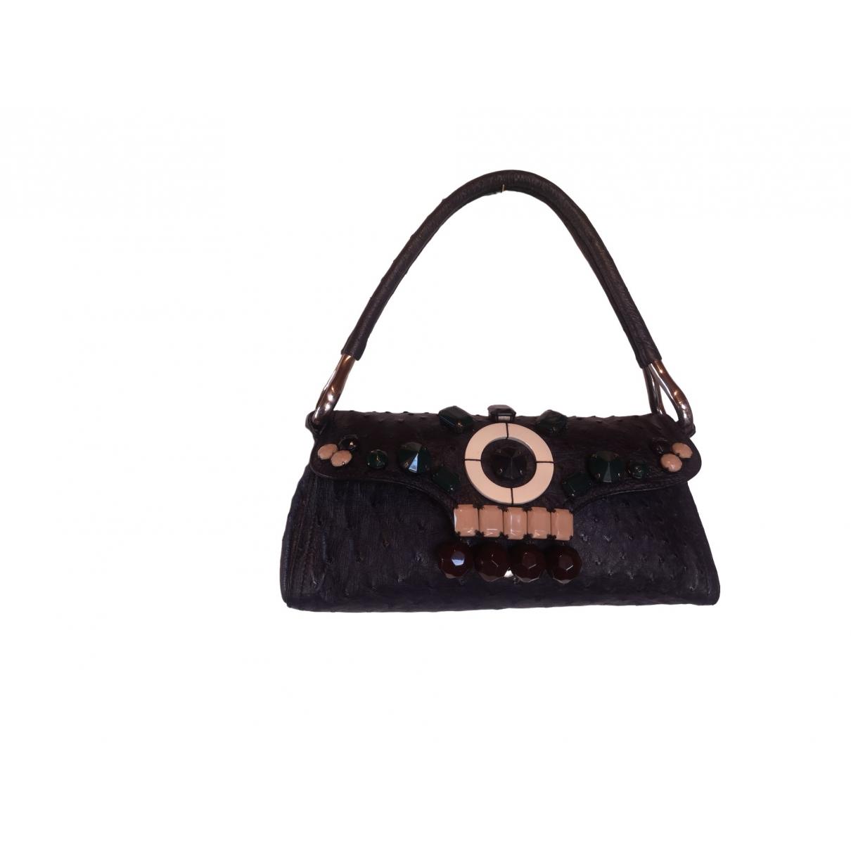 Prada \N Black Ostrich handbag for Women \N