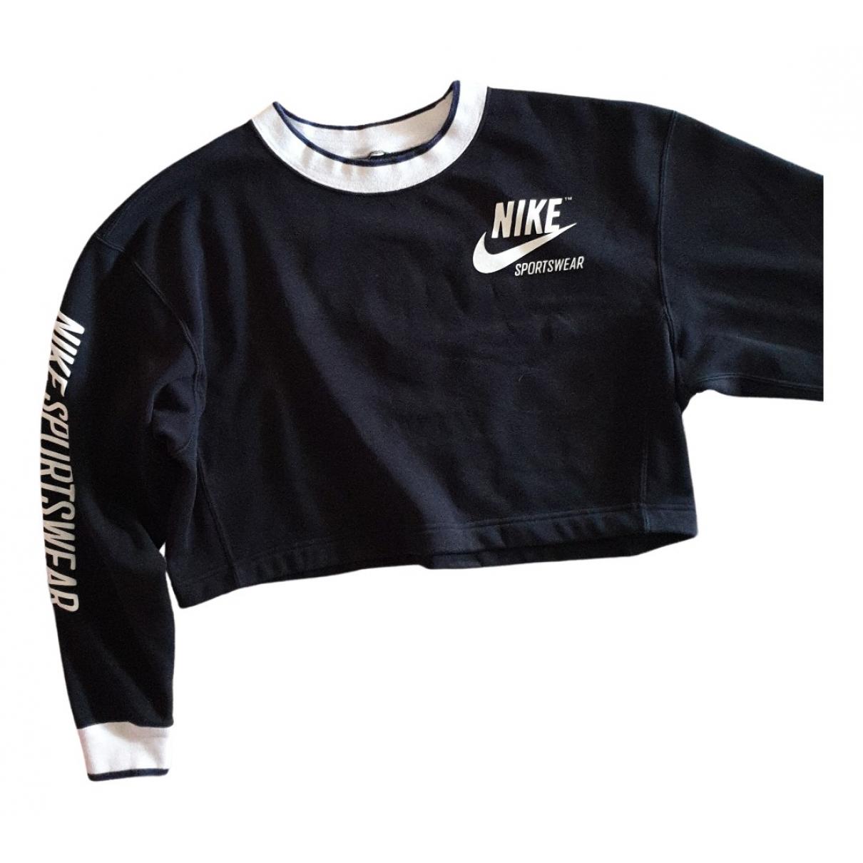 Nike - Top   pour femme en coton - noir