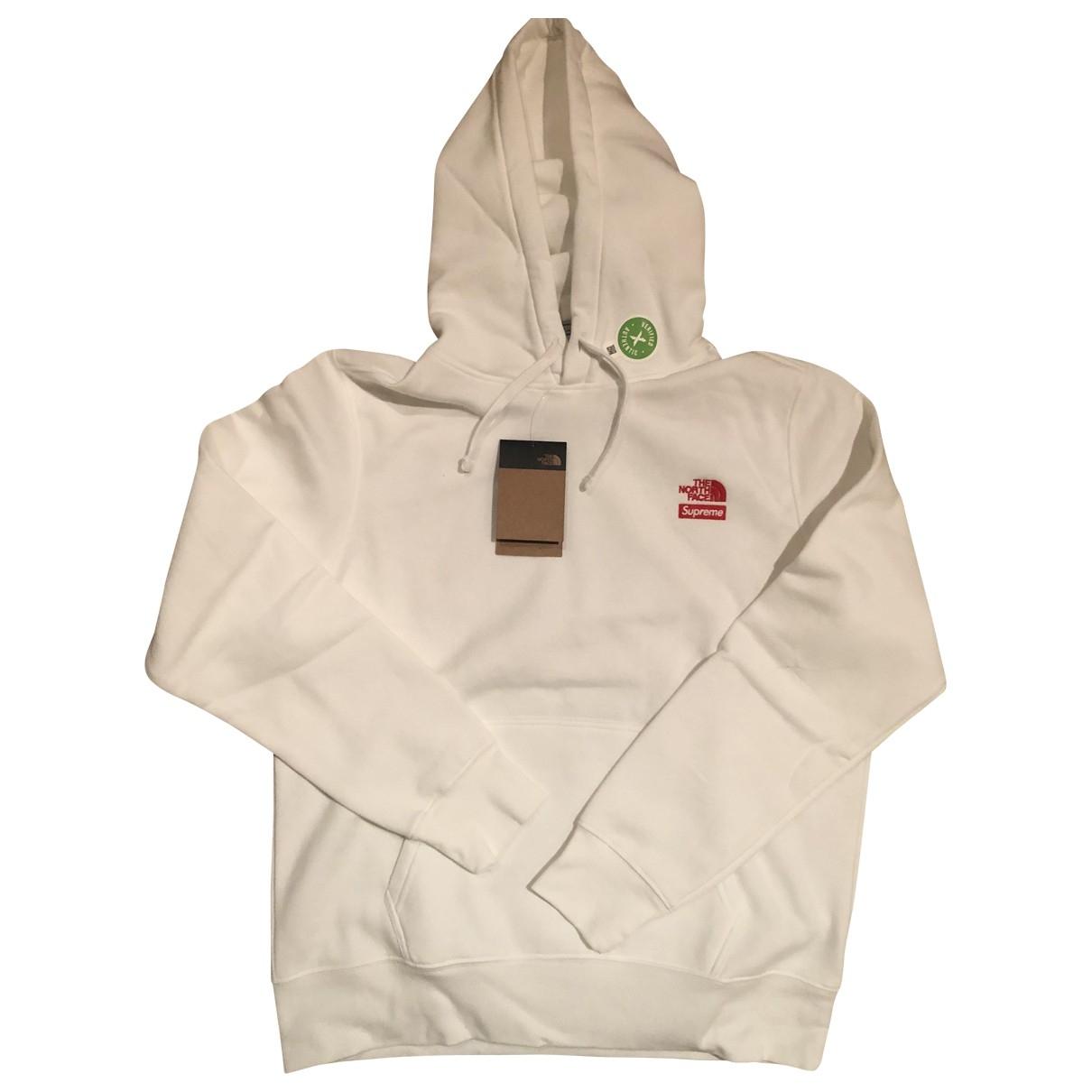 Supreme X The North Face \N Pullover.Westen.Sweatshirts  in  Weiss Baumwolle