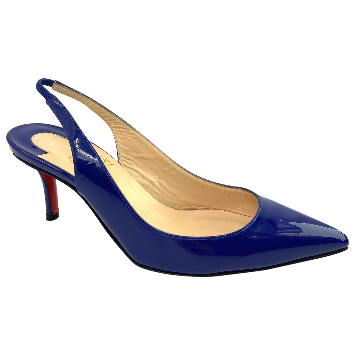 Christian Louboutin \N Pumps in  Blau Lackleder