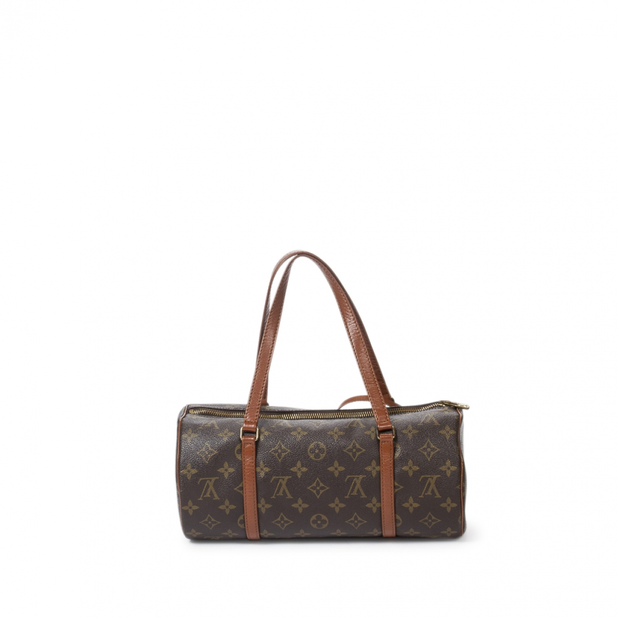 Louis Vuitton - Sac a main Papillon pour femme en coton - marron