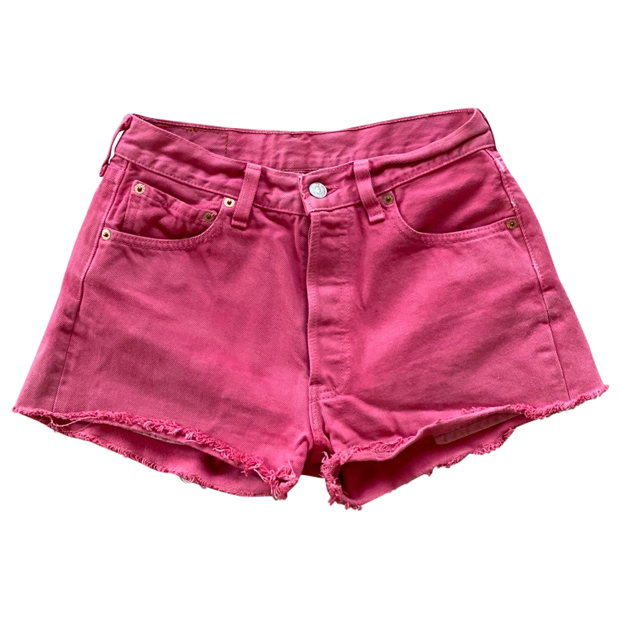 Levi's \N Red Denim - Jeans Shorts for Women 34 FR