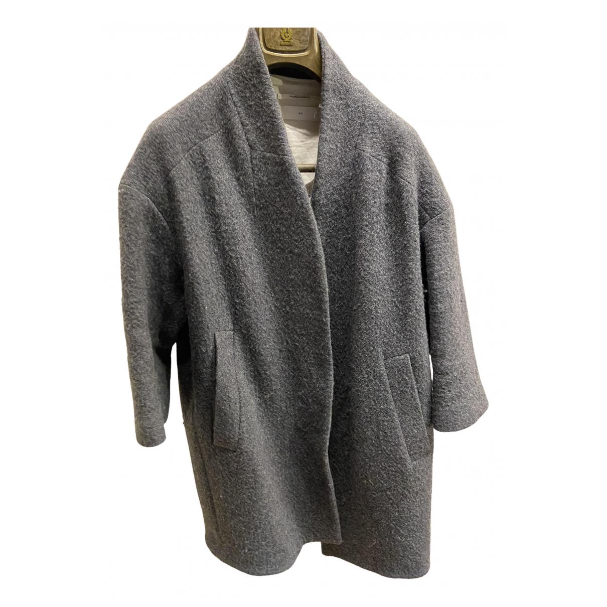 Pomandere - Manteau   pour femme en laine - gris