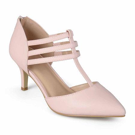 Journee Collection Womens Pacey Pumps Stiletto Heel, 8 1/2 Medium, Pink
